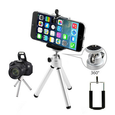 AU6.99 • Buy Universal Mini Tripod Stand With Phone Holder For IPhone Android GoPro DSLR