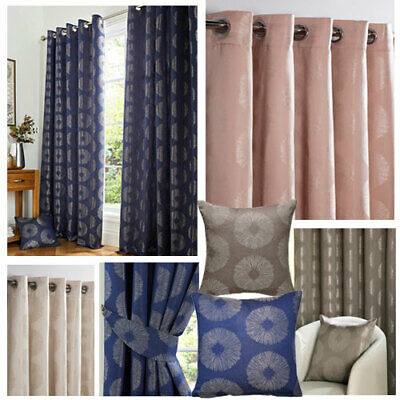 Cosmos Metallic Jacquard Lined Ring Top Curtains (Pair Of) - NOW £10, £15 & £20 • 10£