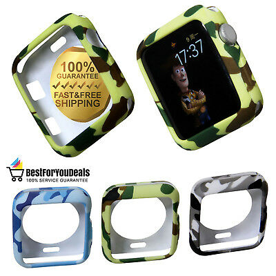 $9.99 • Buy Apple Watch Series 1 2 3 Soft TPU Protector Case Cover Shell Bumper 42mm 38mm
