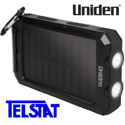 AU59 • Buy Uniden UPP80S Solar Portable Power Bank Built-in LED Torch, Compass IP54 Rated