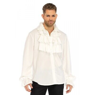 $34.99 • Buy Pirate Shirt Adult Ruffle Front Colonial 18th C Costume Fancy Dress