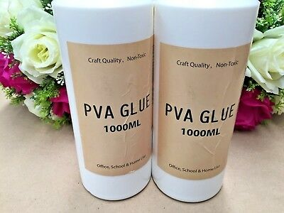 AU22.99 • Buy 2 X 1000ml PVA Glue All Purpose Non Toxic Washable Slime Make Craft Scrapbook 1L