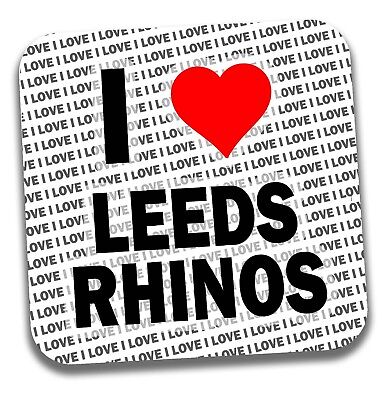 I Love Leeds Rhinos Drinks Coaster - Gift - Birthday - Stocking Filler • 4.99£