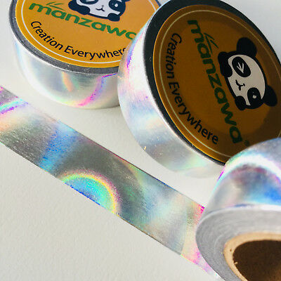 AU3.50 • Buy Washi Tape Silver Foil Holographic 15mm X 10mtr Planner Craft Wrap Mail Art