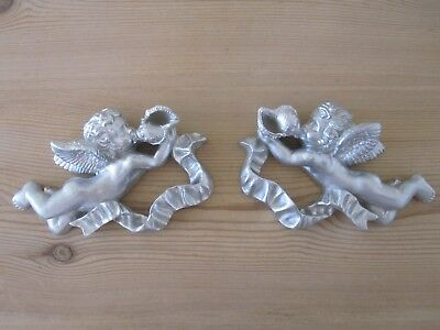 £10.95 • Buy Two Shabby Chic French Country Style Ornate Cherubs / Wall Plaque/project.