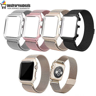 AU19.03 • Buy Milanese Loop Frame Band Case For IWatch Apple Watch Nike Series 1 2 3 38mm 42mm