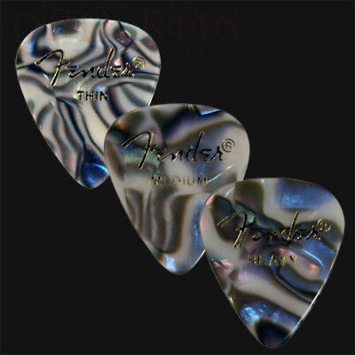 $ CDN7.57 • Buy 12 Fender Celluloid Guitar Picks Abalone - Thin, Med, Heavy Or A Mix Of 3 Sizes