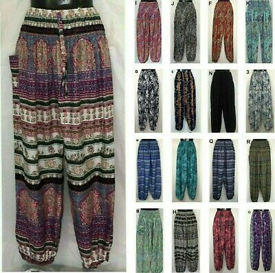 AU26 • Buy Ladies Pants Harem Gypsy Boho Yoga Sizes 8 10 12 14 16 18 20 22 24 26 28 30 32