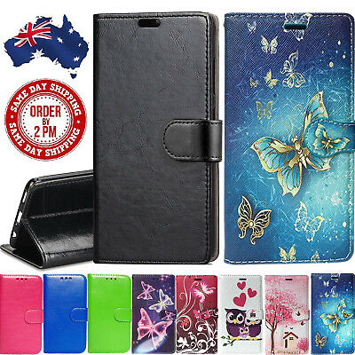 AU11.99 • Buy Premium PU Leather Wallet Case Gold Black Butterfly Cover For Oppo A57 A73 R15
