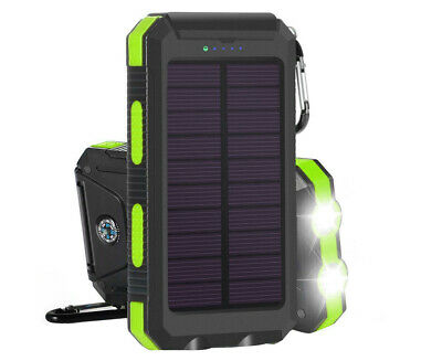 AU29 • Buy TODO 8000Mah Solar Power Bank Mobile Phone Usb Iphone Charger Led Torch - Bla...
