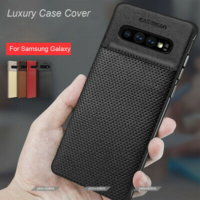 $ CDN22.86 • Buy Slim Leather Protective Case + Screen Protector For Galaxy S8 S9 S10 Note 10 8 9