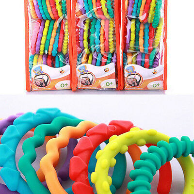 £2.36 • Buy Rainbow Teether Ring Links Plastic Baby Kids Infant Stroller Gym Play Mat Toys R