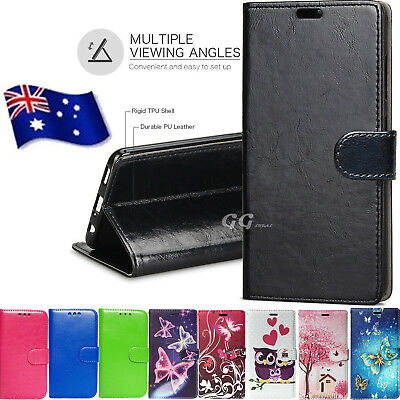 AU7.99 • Buy For Oppo A57 A39 F5 A73 PremiumPU Leather Wallet Case Gold Black Blue Pink Cover