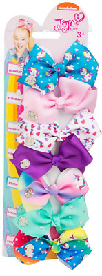 AU15.95 • Buy Jojo Siwa 7 Day 8cm Licensed Signature Hair Bows