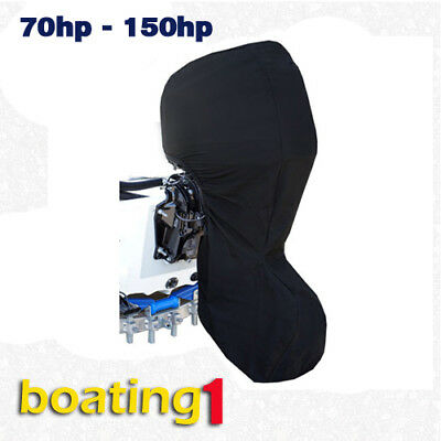 AU55.95 • Buy Full Outboard Boat Motor Engine Cover Dust Rain Protection Black - 70hp - 150hp