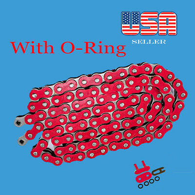 AU169.12 • Buy Chain 520 X 120 Red Color With O-ring Fit:Most Honda Motorcycle