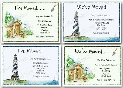 Personalised Change Of Address Moving House New Home Cards X10 I've We've Moved • 3.75£