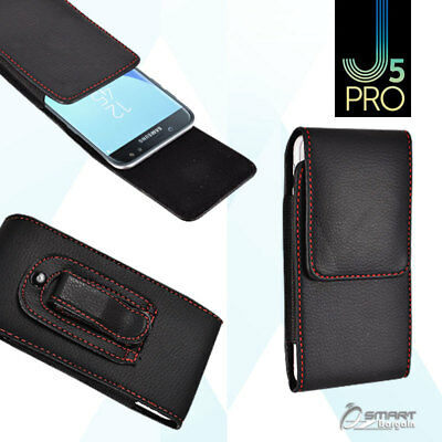 AU5.99 • Buy Vertic Belt Clip Leather Holster Pouch Case Cover For Samsung Galaxy J5 Pro J530