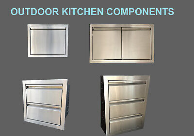 $129.75 • Buy 304 Grade Outdoor Kitchen Bbq Island Components Access Doors And Drawers