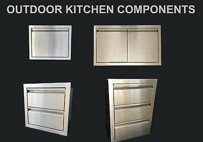$129.75 • Buy Outdoor Kitchen Bbq Island Components 304 Stainless Steel Access Door And Drawer