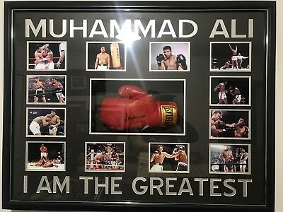 AU2200 • Buy Signed Muhammad Ali Boxing Glove Framed