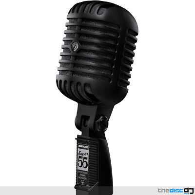 Shure Super 55 Deluxe Vocal Microphone - Limited Edition Pitch Black Elvis Mic • 259£