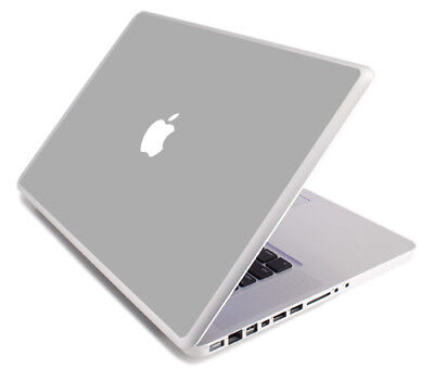 $8.99 • Buy SILVER GRAY Vinyl Lid Skin Cover Decal Fits Apple MacBook Pro 17 A1297 Laptop