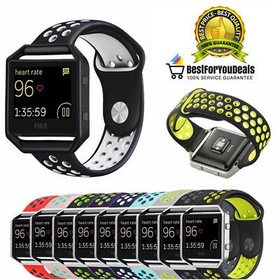 AU13.35 • Buy Replacement Soft Flexible Sport Silicone Strap Band For Fitbit Blaze Large,Small