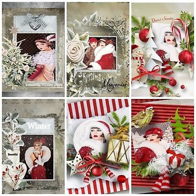 £2.90 • Buy AN  ART DECO CHRISTMAS 12 Embellishments, Card Making Toppers, Card Toppers