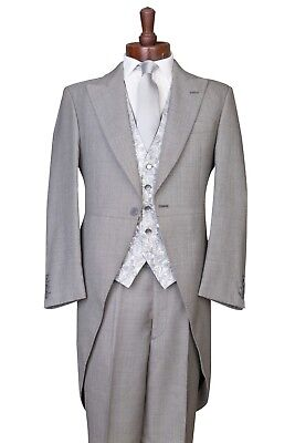 £79.95 • Buy Grey Tailcoat Ascot Morning Suit 3 Piece Wedding Formal Tails Morning