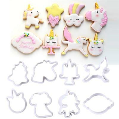 AU6.99 • Buy Unicorn Rainbow Cute Cookie Cutter Fondant Chocolate Cake Embossing Mold Baking