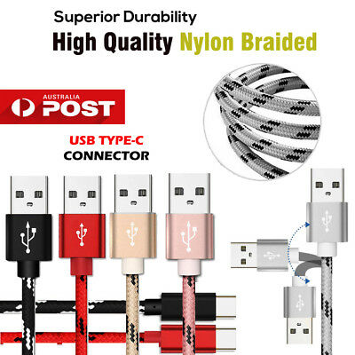 AU6.45 • Buy 1M 2MUSB Type-C Fast Charging Charger Cable Samsung Galaxy S10e S10 S9 S8 Plus