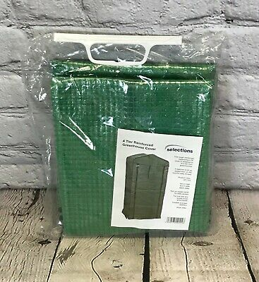 4 Tier Mini Greenhouse Re-inforced Replacement Cover • 12.99£
