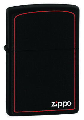 AU39.99 • Buy New ZIPPO Lighter Black Matte With Print And Border Free Shipping 100% Genuine