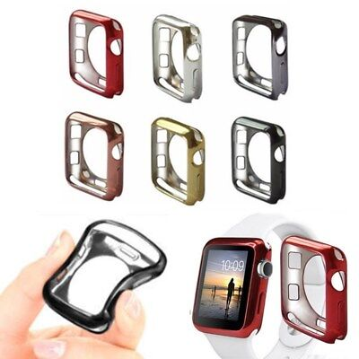 $ CDN3.65 • Buy Silicone Bumper Protector Case Cover For Apple Watch Series 4/3/2 IWatch 38/42mm