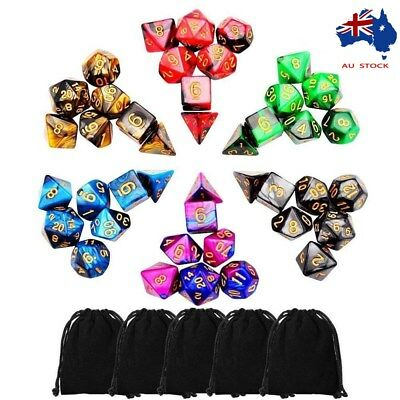 AU20.99 • Buy 42pcs Polyhedral Dice For Dungeons And Dragons DND RPG D20 D12 D10 D8 D6 D4 Game