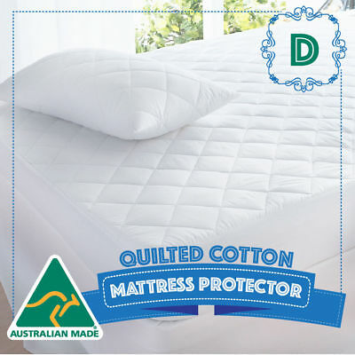 AU27 • Buy DOUBLE Size Bed Cotton Quilted Australian Made Fully Fitted Mattress Protector