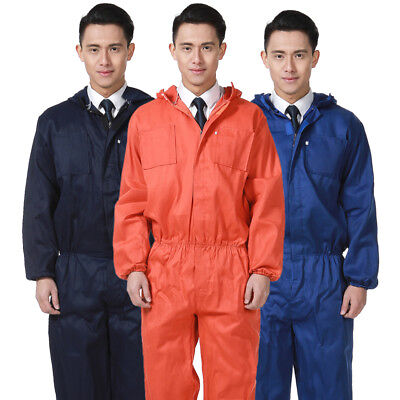 $22.18 • Buy Workwear Coverall Overall Tuff Work Garage Uniform Boilersuit Hooded Jumpsuit