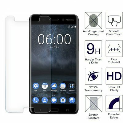 AU4.99 • Buy 9H Tempered Glass Film Screen Protector For Nokia 1 2 3 5 6 6.1 2018 7 Plus 8