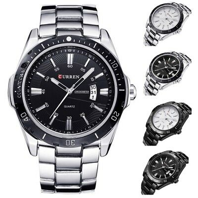 AU16.99 • Buy CURREN Men Quartz Sport Wrist Watch Army Stainless Steel Waterproof Date Watches