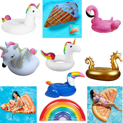 Giant Inflatable Toys Water Float Mats Summer Sea Swim Pool Lounger Beach New Uk • 18.37£