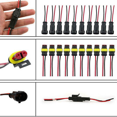 $ CDN1.49 • Buy 1x Car Vehicle Wire Connector Plug Terminal Sealed Waterproof Electrical 2 Pin