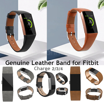 AU13.28 • Buy Genuine Leather Wrist Band Strap Watch Replacement For Fitbit Charge 2 AU Seller
