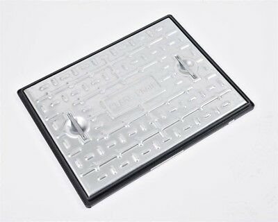 Clark Drain Galvanised Steel 10 Tonne Manhole Cover And Frame PC6CG 600x450x30mm • 34.99£