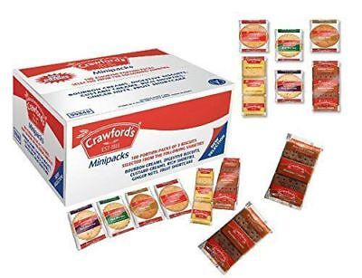 £89.95 • Buy Crawfords Assorted Mini Biscuit (Pack Of 100) 5 Boxes X 100