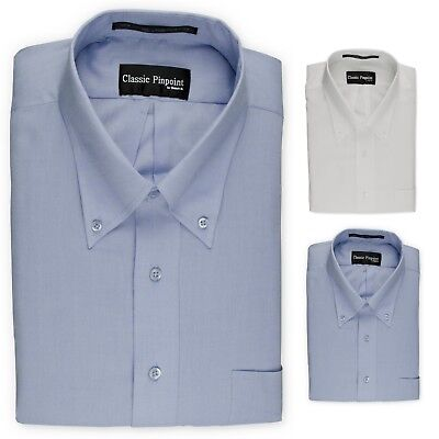 $9.59 • Buy Donatelli Big And Tall Button-Down Dress Shirt | Classic Pinpoint