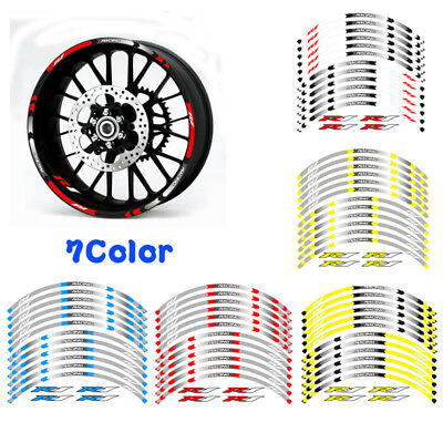AU18.79 • Buy For Yamaha Yzf-r1 Yzf R1 Motorcycle Rim  17 Stripes Wheel Decals Tape Stickers