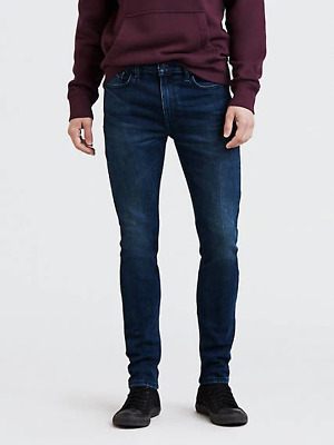 Genuine LEVIS 519 Extreme Skinny Fit Stretch Mens Jeans Dark Blue • 99.99£