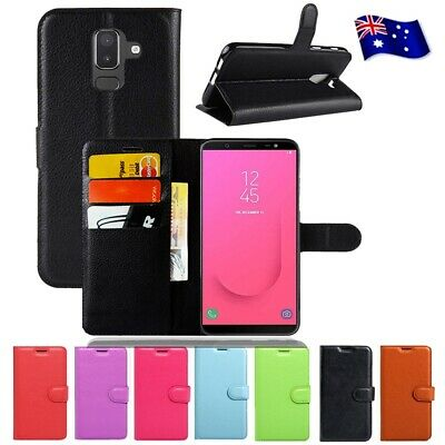 AU7.95 • Buy For Samsung Galaxy J8 2018 Case Wallet Leather Flip PU Shockproof Case Cover
