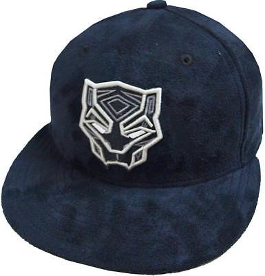 New Era Black Panther Suede Dc Marvel Cap 59Fifty Fitted Special Limited Edition • 46.43£